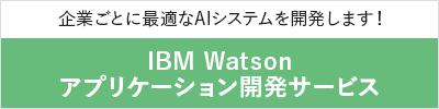 企業毎に最適なAIシステムを開発する IBM Watson開発サービスはこちら